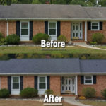 residential roof greensboro nc before  after